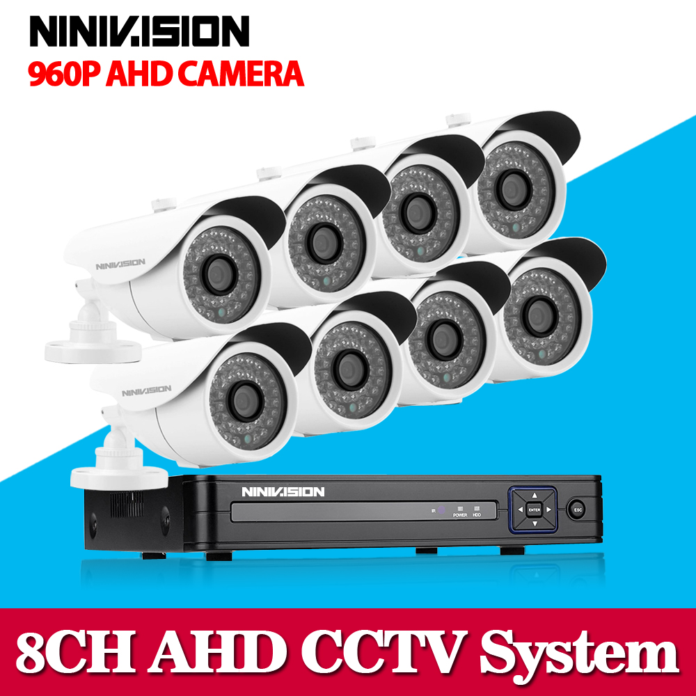 8 Channel 1080N DVR 2500TVL 960P HD Outdoor Security Camera System 8CH HDMI 1080P DVR CCTV Surveillance Kit AHD Camera Set