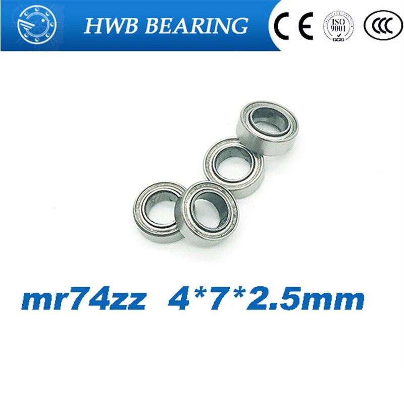 MR74ZZ  4*7*2.5  4x7x2.5mm Metal Shielded Ball Bearing Bearings 10 pcs
