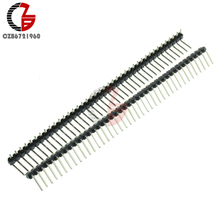 5Pcs 40Pin 2.54mm Single Row Right Angle Male Pin Header Strip DIY for Arduino