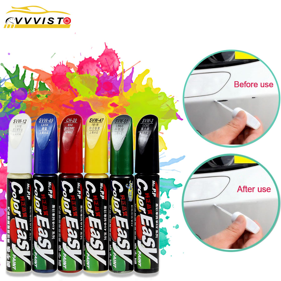 VVVIST Car Scratch Repair Agent 4Colors Car Paint Repair Fix It Pro Auto Care Scratch Remover Paint Care Special Auto Paint Pen