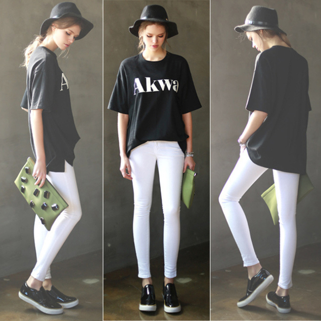 New Spring Fashion Elastic High Waist Pencil Pants Black White Slim Casual Leggings Stretch Trousers Skinny Pants Plus size XXL