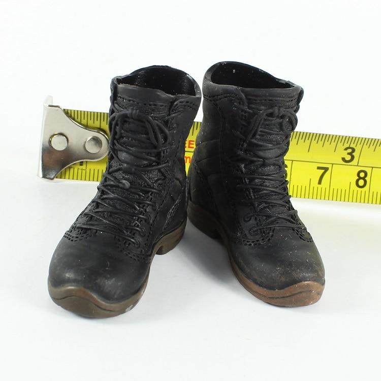 TB17-09 1/6 Black Short Boots Shoes Models For 12'' Men's Action Figures Bodies