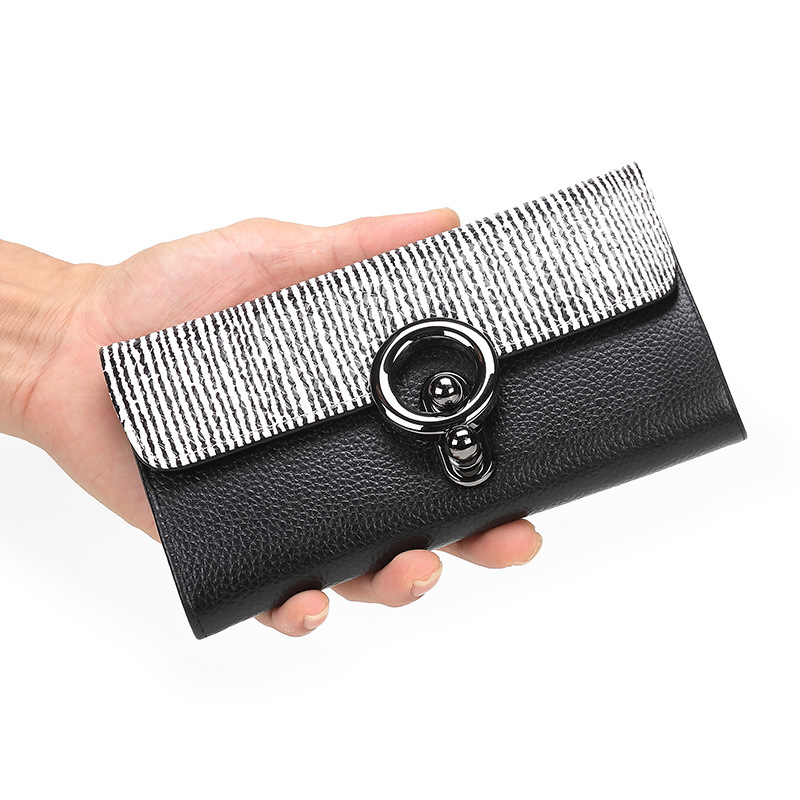New Real Genuine Leather Women Wallets Brand Design High Quality Cell phone Card Holder Cowhide Long Lady Wallet Purse Clutch 2017 genuine cowhide leather brand women wallet short design lady small coin purse mini clutch cartera high quality
