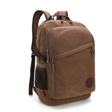 New Retro High Quality Laptop Backpack Men Travel Back Bag Canvas Large Backpacks Bagpack Student