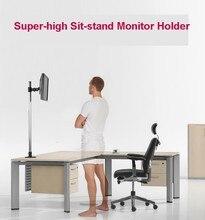 L139 Tremendous-high Desktop Sit-Stand 17-27 inch Monitor Holder Stainless Metal TV Mount Stand Column Peak 90cm Loading 10kgs