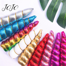 JOJO BOWS 5 Glitter Plush Patches Sparkly Unicorn Horn DIY Headband Accessories For Needlework Handmade Hairbow Party Decor 3pc