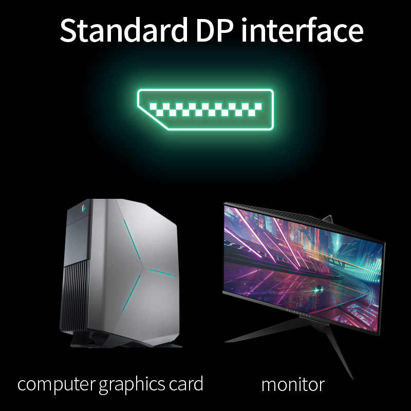 DP 1.4 optik Fiber kablo Displayport 1.4 8K @ 60Hz 4K 144Hz 32.4Gbps HDTV için projektör