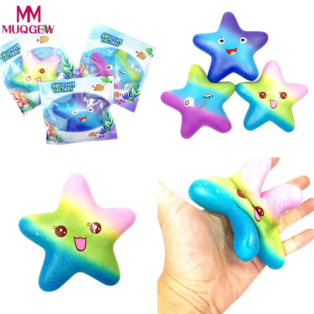 3Style Exquisite Fun Galaxy Star fish Scented Squishy Charm Slow Rising 13cm Kids Toys Dropshipping
