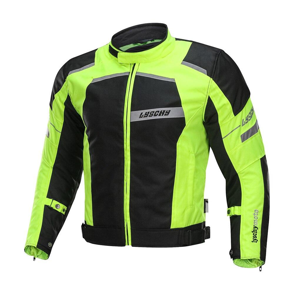 LYSCHY veste de Moto équitation été hiver Detechable imperméable respirant maille veste Moto pantalon costume Moto équipement de protection - 3