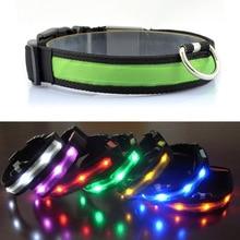 Nylon Night Safety Glow Flashing Light Dogs Leash LED Dog Cat Collar Luminous Puppy Necklace