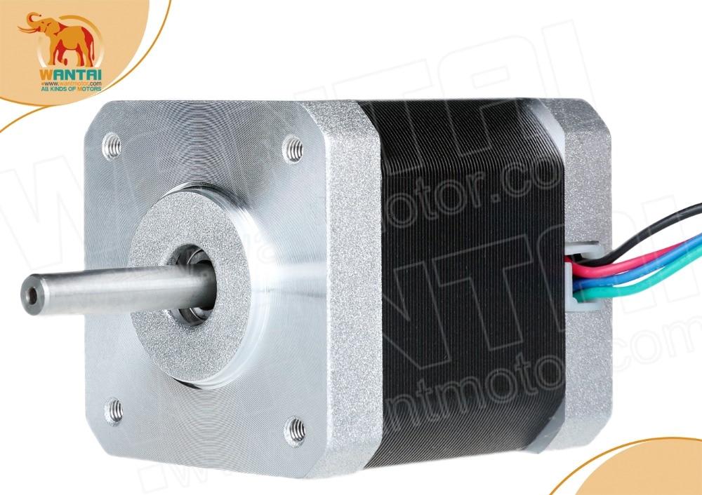 1PC Nema17 0.9degree Stepper Motor 42BYGHM810 4200g.cm 42N.cm 60oz-in 48mm 2.4A CE ROHS ISO 3D Printer Reprap Robot CNC WANTAI