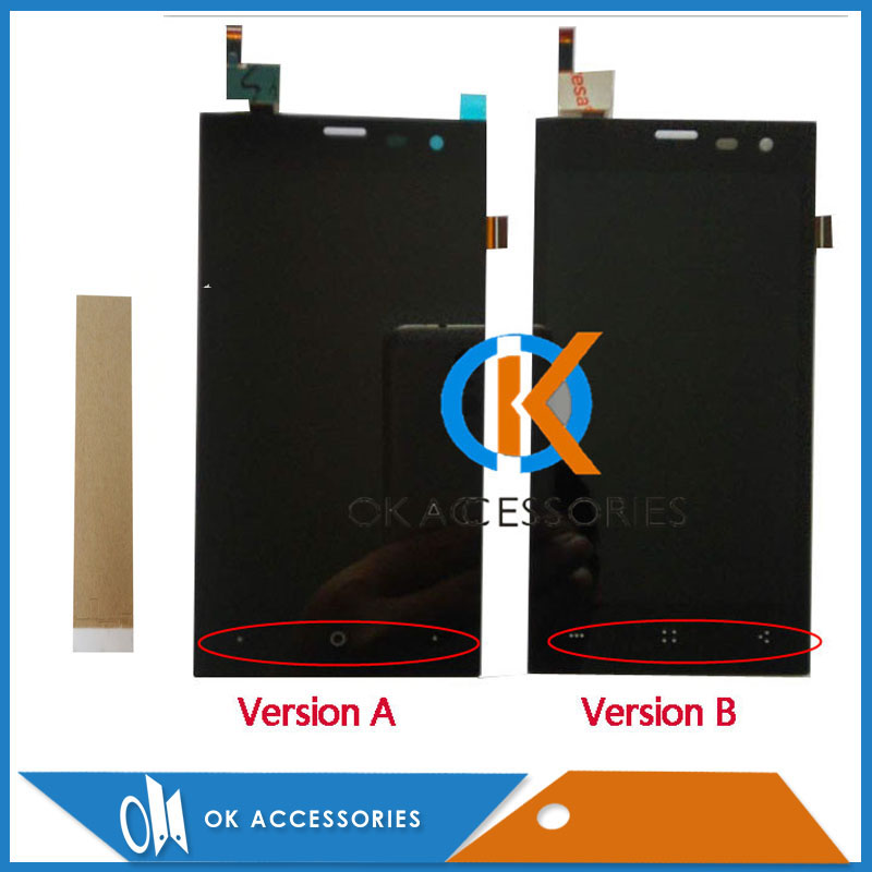 High Quality For Highscreen Zera S (rev.S) LCD Display+Touch Screen Digitizer Assembly Black Color With Tape