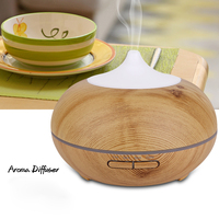 Humidifier 500ml 110v 200v Aroma Diffuser Air Humidifier Wood Grain Aromatherapy Mini Humidifier