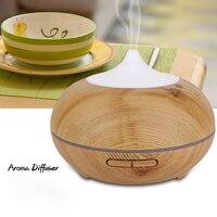 Humidifier 500ml 110v 200v Aroma Diffuser Air Humidifier Wood Grain Aromatherapy Mini Humidifier