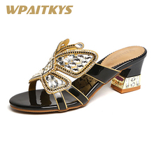 Exquisite Women Shoes Rhinestone Sandals Fashion Golden Purple Blue Black Four Colors Crystal Leather Casual Wedding