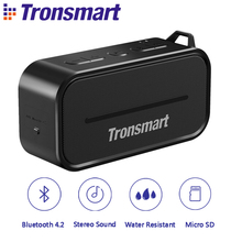 Tronsmart Element T2 Bluetooth 4.2 Outdoor Wireless Water Resistant Speaker Portable  Mini Speaker Black for IOS Android Xiaomi