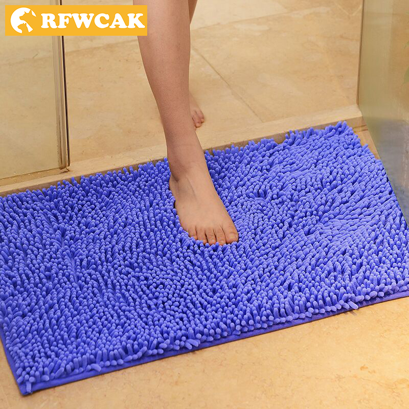 RFWCAK High Quality Thick Green Chenille Bedroom Kitchen Living Room Carpet Teapot Bathroom Door Non-slip Mat Mats Free Shipping