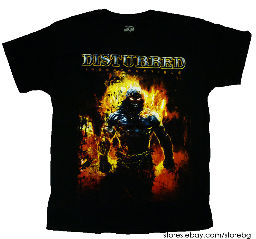 Official T Shirt DISTURBED Immortalized /'Up Yer Military/' Fist All Sizes
