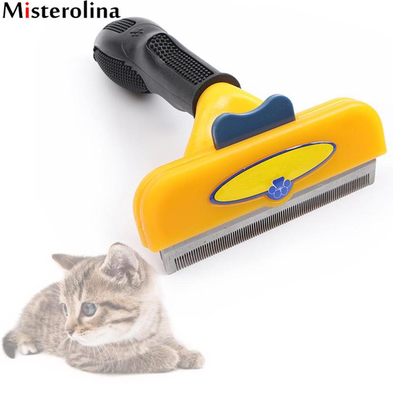 Pet Dog <font><b>Deshedding</b></font> Removal <font><b>Hair</b></font> Furmins Comb For <font><b>Cat</b></font> Grooming Brush <font><b>Tool</b></font> <font><b>Hair</b></font> Clipper Stainless Dog <font><b>Cat</b></font> Combs Supplies ZDD4054