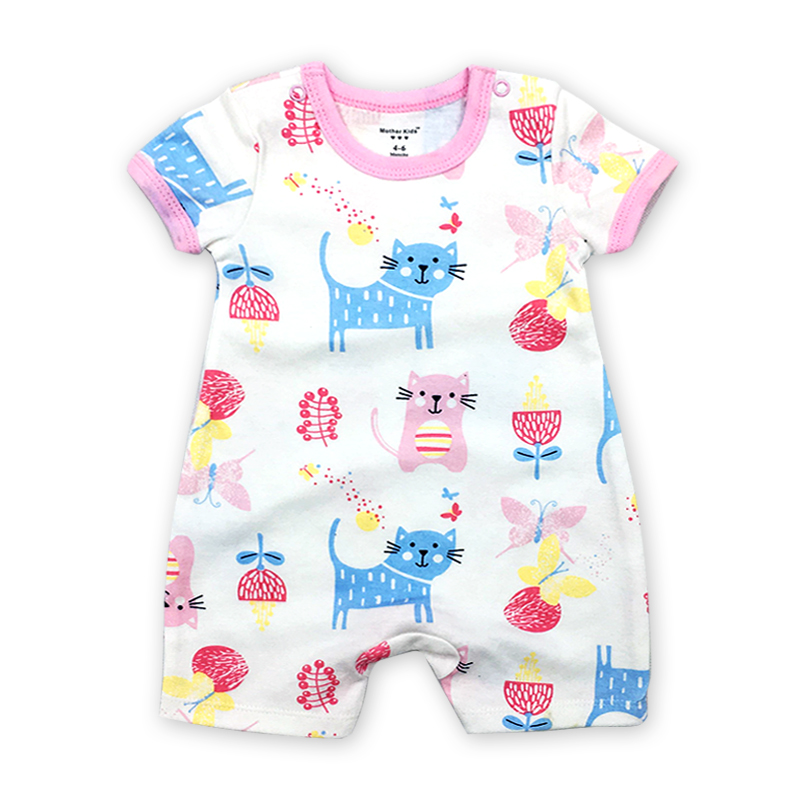 Summer Baby Rompers Cartoon Short Sleeve Overalls for Newborns Baby Boy Girl Roupas Infa ...