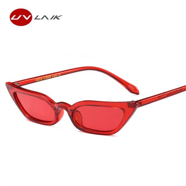 baefad20d2 UVLAIK Vintage Cat Eye Small Frame Sunglasses Women Brand Designer 2018 New Female  Sun Glasses Cateye