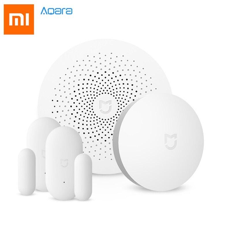 D'origine Xiaomi Mijia Aqara Maison Intelligente Aqara Sécurité Ensemble Porte Fenêtre Capteur Smart Home Gateway & Sans Fil Commutateur