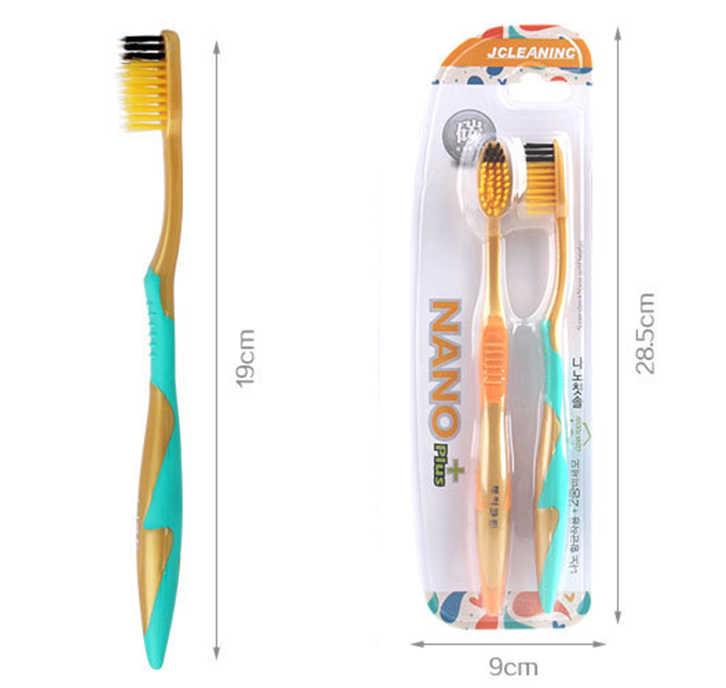 2 pcs/set Sikat Gigi Kesehatan Oral Perawatan Gigi Lembut Sikat Gigi Gigi Membersihkan ultra-tipis Nyaman Bulu Mudah Menangani Anti-ski