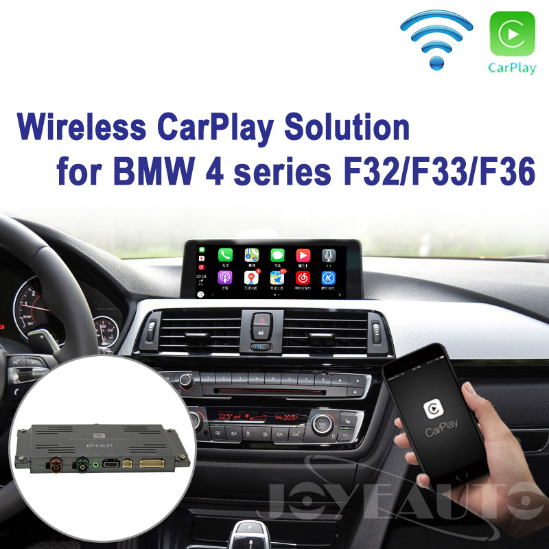 US $398 65 15% OFF Joyeauto WIFI Wireless Apple Carplay Retrofit 4 series  F32 F33 F36 NBT 2013 2017 for BMW support Camera Waze Spotify Google  Maps-in
