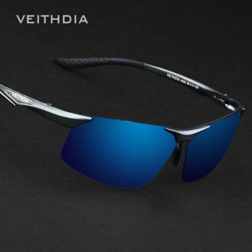Veithdia dos homens do aviador alumínio polarizado UV400 óculos de sol  condução óculos de pesca esportiva óculos Goggle a0f997b66d