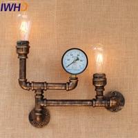 Wrounght Eisen Vertraglich Industrie Wand Leuchten Wasserleitung Wandleuchte Vintage Retro Loft Stil Wandleuchte Edison Lampe-in Wandleuchten aus Licht & Beleuchtung bei
