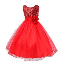 2016 A-line Limited Dress Summer High-grade Wedding Dresses Children Embroidered Party Dresse Bridesmaid Kids Clothes 100-160cm