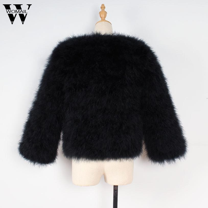 9cbc9a6387e WOMAIL Vintage fluffy faux fur coat women Short furry fake fur winter  outerwear pink coat 2017 autumn casual party overcoat O25
