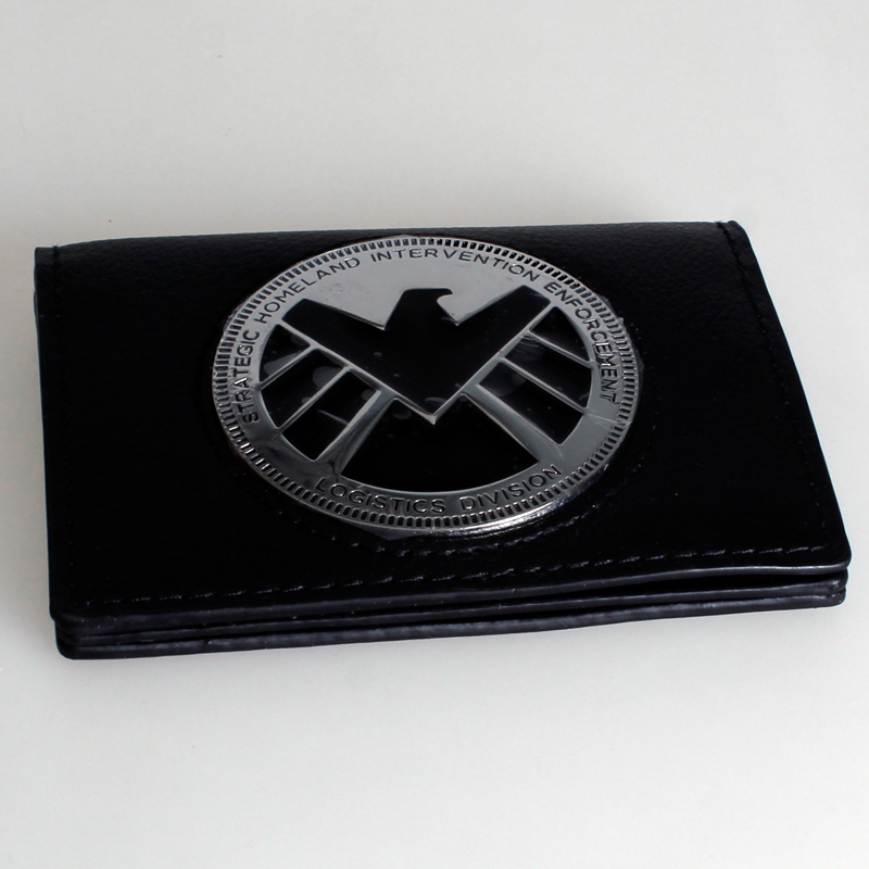 Marvel  S.H.I.E.L.D. Phil Coulson Badge Wallet DFT-1270 mens batman logo badge bifold wallet dft 1327