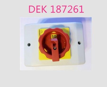 para o Interruptor Principal de Alimentação Máquina de Impressão Marca Original Novo Asm Dek 187261
