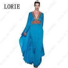 Muslimischen stil schmetterling abaya dubai kaftan maxi langarm arabisch lange royal blue abendkleid islamische kleidung für frauen 2016