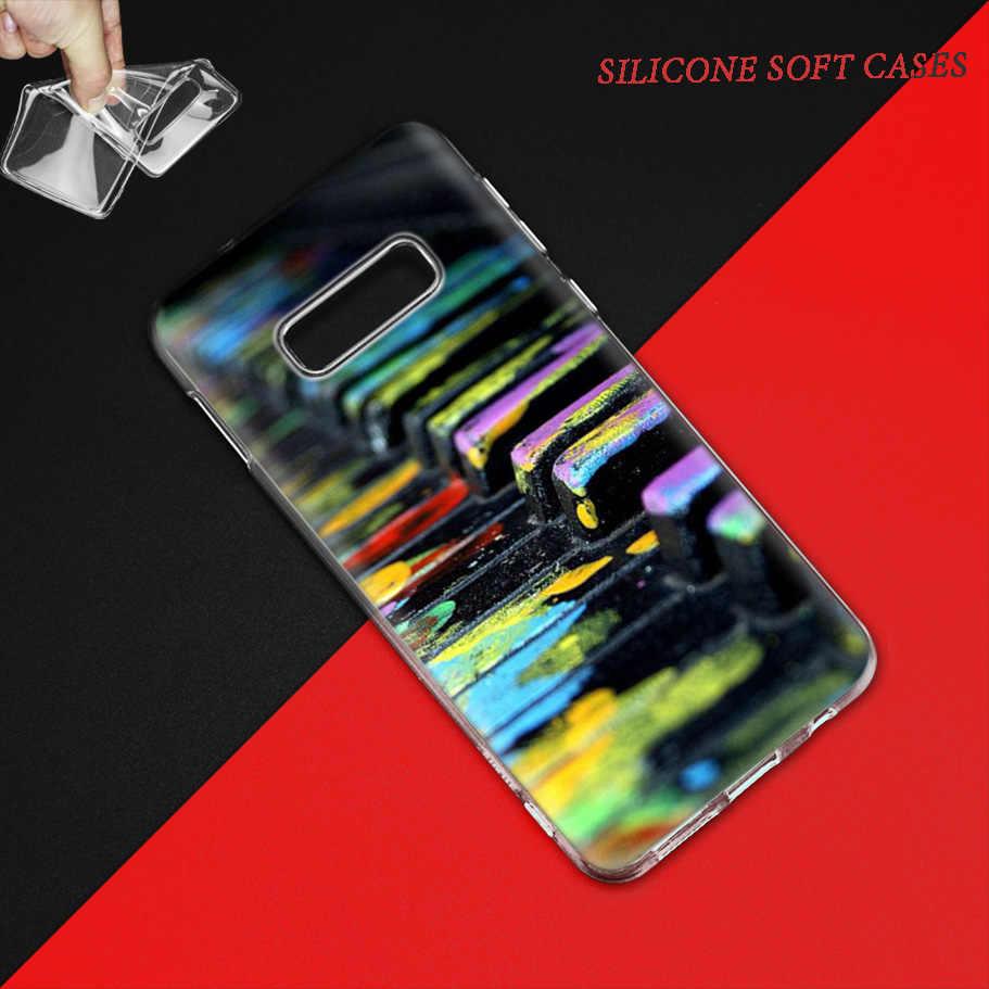 Nhạc Dương Cầm Ốp Lưng dành cho Samsung Galaxy Samsung Galaxy S8 S9 S10 5G S10e S7 Note 8 9 10 J4 J6 Plus j5 J8 2018 J3 Silicone Fundas Túi Đựng Điện Thoại Couvre