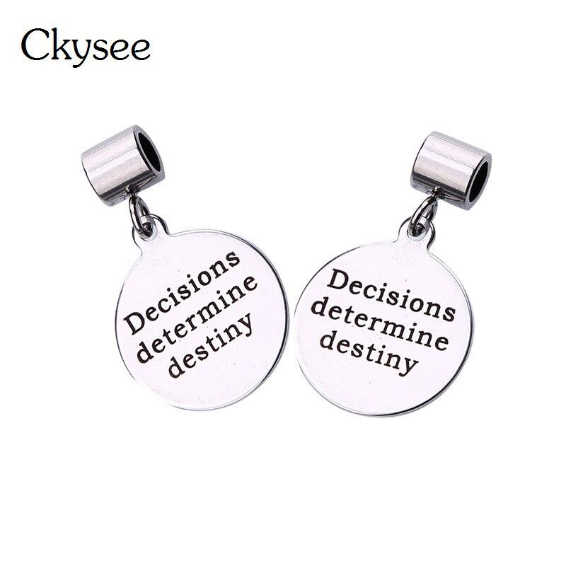 Ckysee 1Pcs / lot Diameter 20mm ezüst színes szóüzenet Charms - Divatékszer