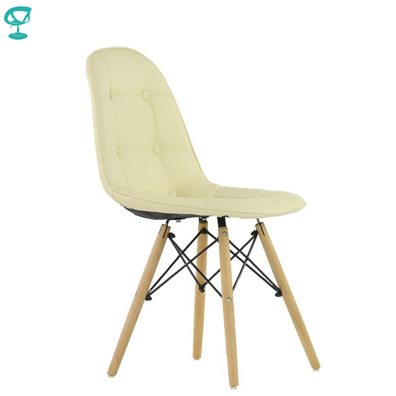 95439 Barneo N-43 Eco-Skin Wood Kitchen Breakfast Interior Stool Bar Chair Kitchen Furniture Cream Free Shipping In Russia