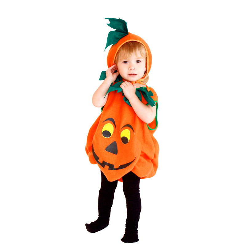 New Unisex Halloween Pumpkin skirt Costumes Kids Thanksgiving Day Cosplay Childrens pajamas Christmas Carnival Masquerade dress