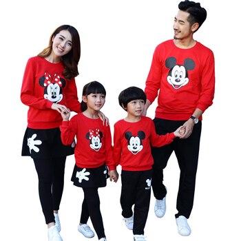 2018 Ropa De Navidad Familia Mickey Mama Y Mi Ropa Juego Familia