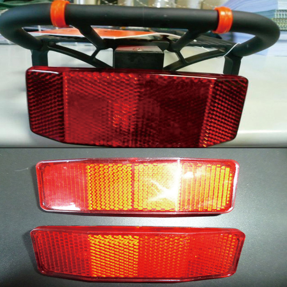 Bike Bicycle Rear Reflector Tail Light Night Riding For Luggage Rack NO Battery