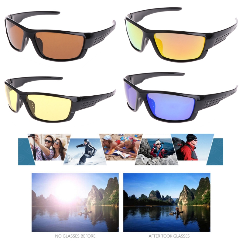 Newest Glasses Fishing Cycling Polarized Outdoor Sunglasses Sport Eyewear UV400 For Men