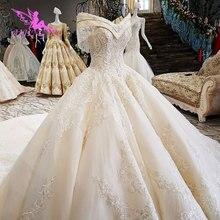 AIJINGYU suknia ślubna macierzyński seks suknia Xiamen Prettys luksusowe koronki zakupy Sexy suknie ślubne zniżki suknie ślubne