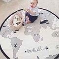 Manta de Bebé de algodón Lindo Estera Del Piso Del Bebé Mundo Aventura Niños Manta Juego Manta de Bebé Alfombra de Juego Infantil Estera de Arrastre 135 cm