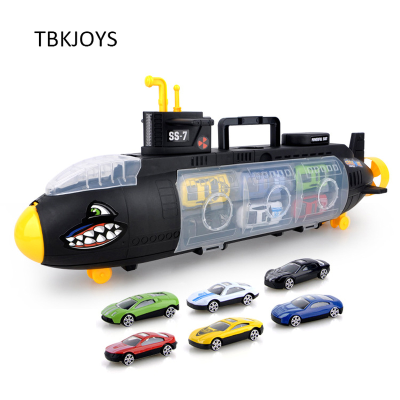 Big Size Metal Alloy Diecast Toy Vehicle Shark Submarine Mode Cars Toys for Children Toddler Car Toy Mini Auto 54CM ...