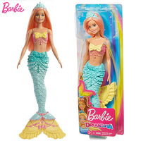 Original Brand Mermaid Barbie Doll Rainbow Lights The Girls Toys For Chilren A Birthday Present Gift Boneca baby princess dolls