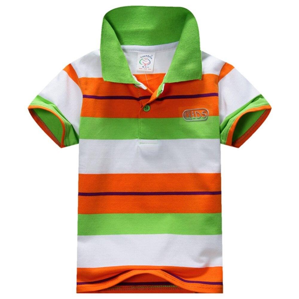 e37edcddd513 Boys Baby Kid Topy T-Shirt Lato Skrótu Rękawa T Koszula W Paski Polo Shirt  Tops