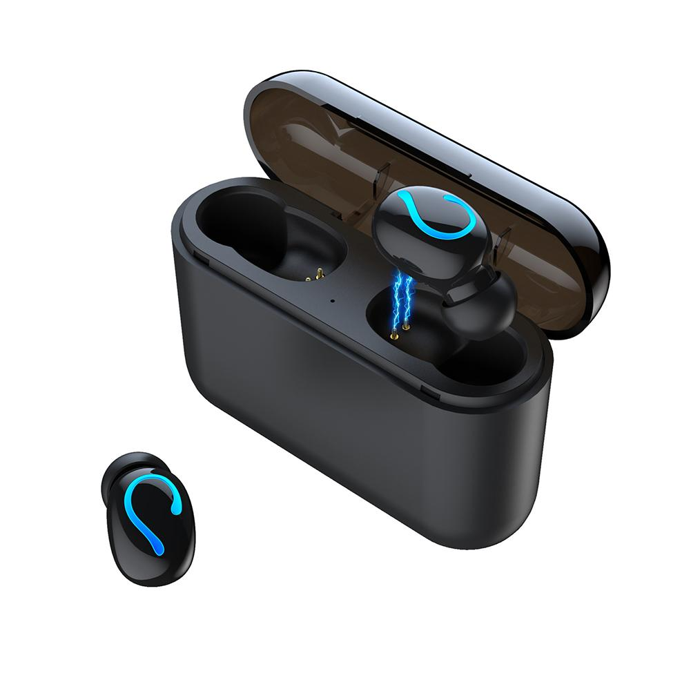 2019 New Bluetooth Earphones Portable TWS Wireless In ear 3D Stereo Sound With Mic Handsfree Sports Earbuds Auto Pairing Headset in Bluetooth Earphones Headphones from Consumer Electronics