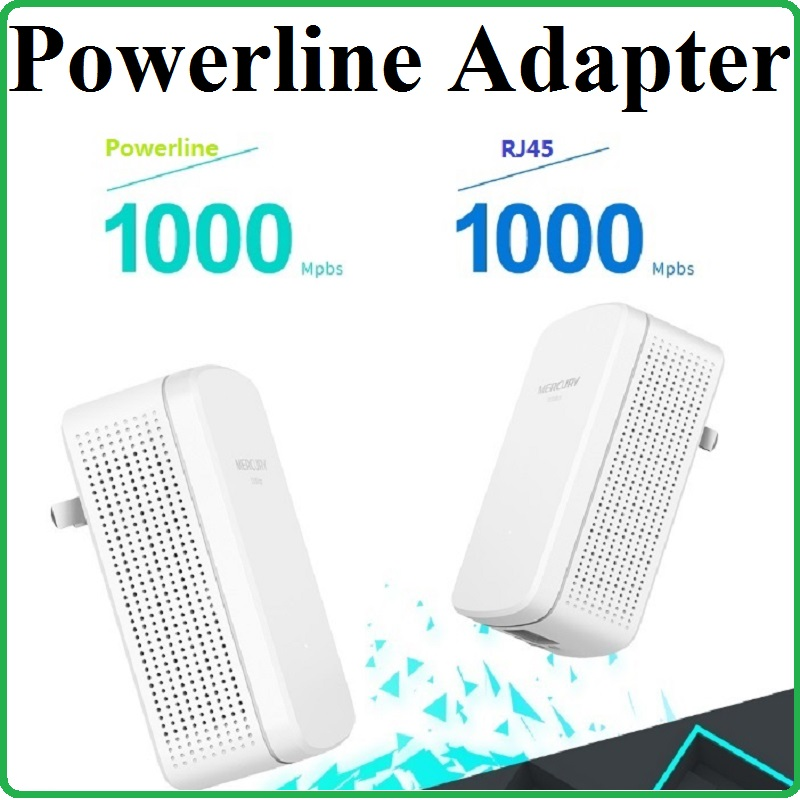 A pair RJ45 Gigabit 1000Mbps Powerline Network Adapter AV1000 Ethernet PLC Adapter WiFi Router Partner IPTV