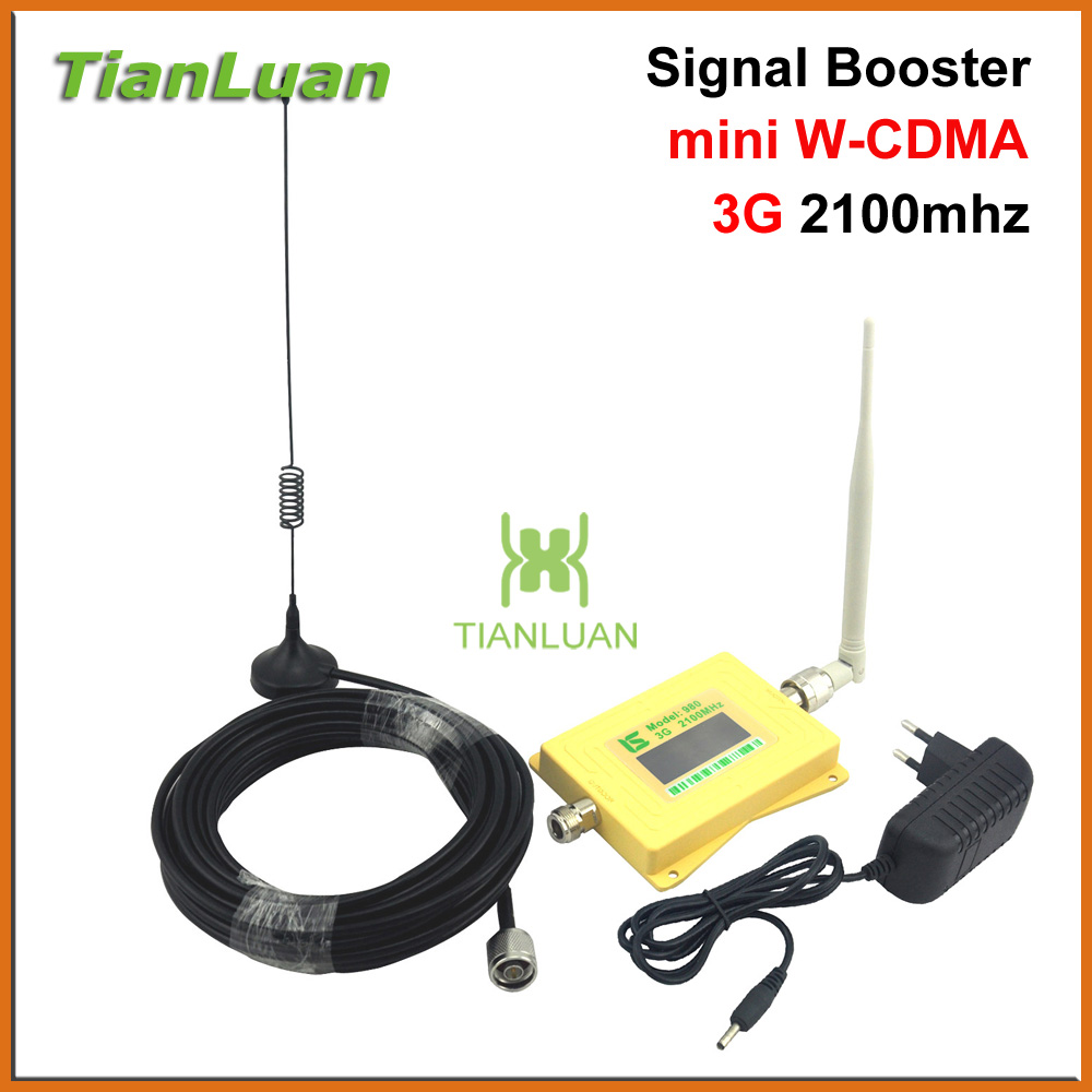 Smart LCD 3G W CDMA 2100MHz Cell Phone Signal Booster 3G